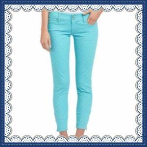 💕Lilly Pulitzer Worth Skinny Mini ZIP Crop Jeans